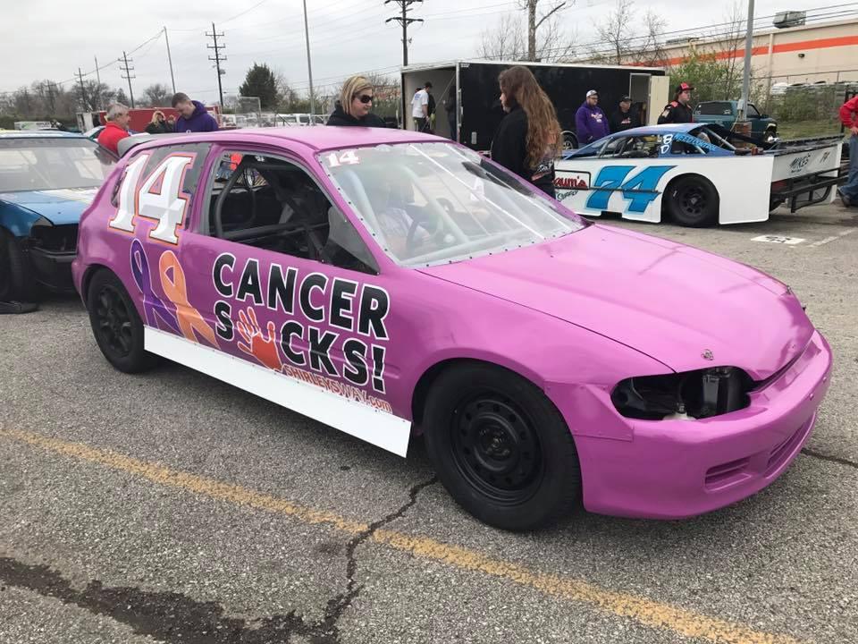 Cancer Sucks Race car